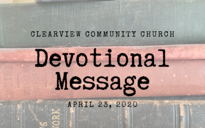 Devotional Message – April 23, 2020