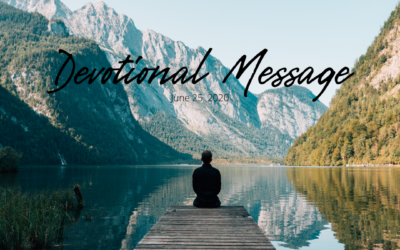 Devotional Message – June 25, 2020