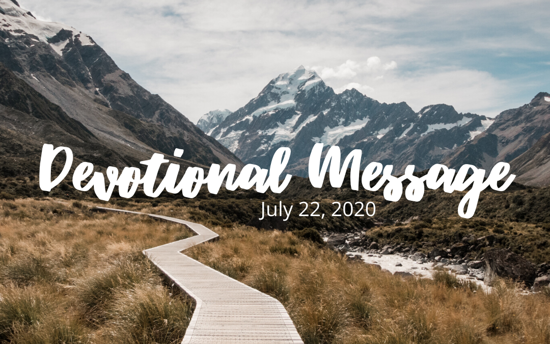 Devotional Message – July 22, 2020