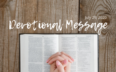 Devotional Message – July 29, 2020