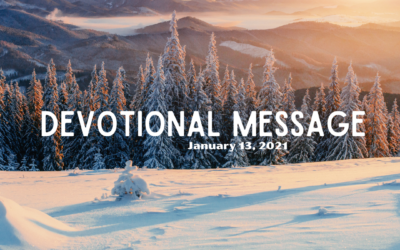 Devotional Message – January 13, 2021