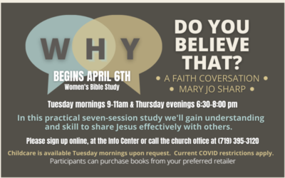 """Why Do You Believe That?"" Women's Bible Study"